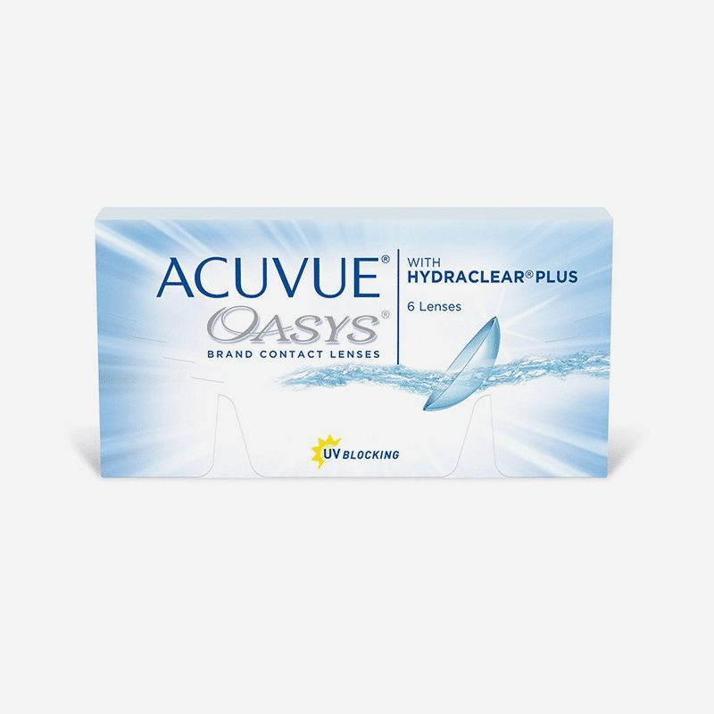 - ACUVUE® OASYS® with HYDRACLEAR® PLUS- eye lab