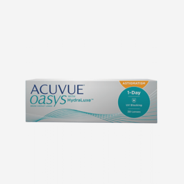 ACUVUE® OASYS 1-Day with HydraLuxe™ for ASTIGMATISM-eyelab